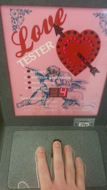 "Love tester assessment, a 4 ""Warming Up"""